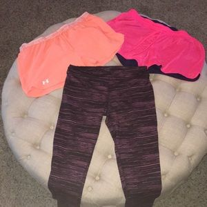 Pants - Under Armour & Champion Shorts + Champion Pants